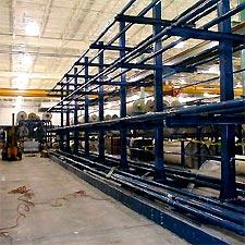 Textile beam storage rack